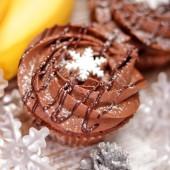 Коледен капкейк Банан и шоколадов мус