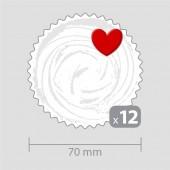 Декорация за кексчета с 12 сърца
