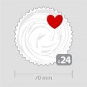 Декорация за кексчета с 24 сърца