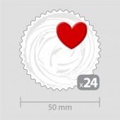 Декорация за мини кексчета с 24 сърца