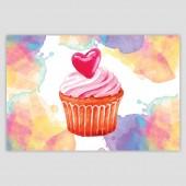 Картичка със сърце