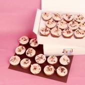 24 Мини капкейка Малина и шоколад