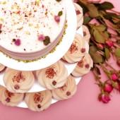 Капкейк торта Сватбена роза