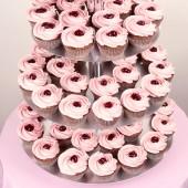 Сватбена капкейк торта Пияна череша