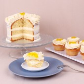 Сватбена капкейк торта Лимонов крем