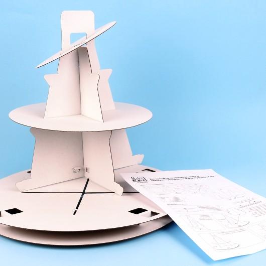 Триетажна стойка за еднократна употреба