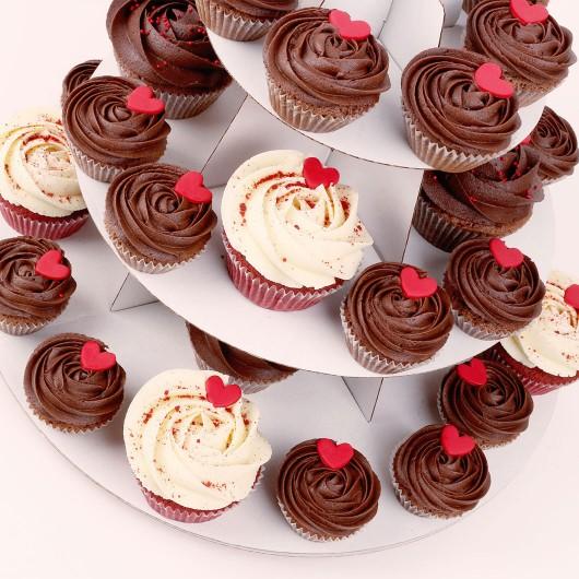 Капкейк торта Обичам те