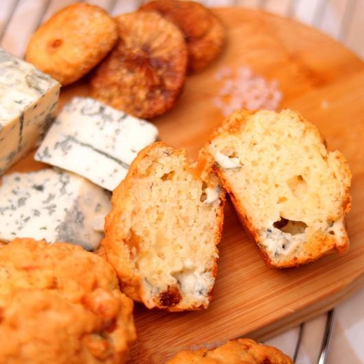 Мъфин Сушени смокини и синьо сирене