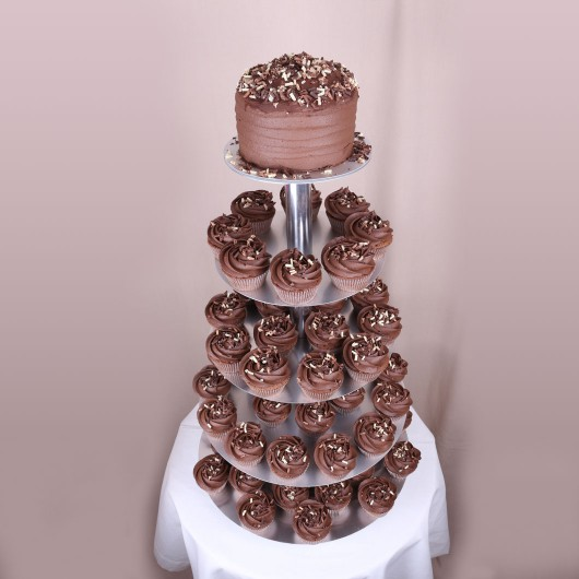 Сватбена капкейк торта Какао