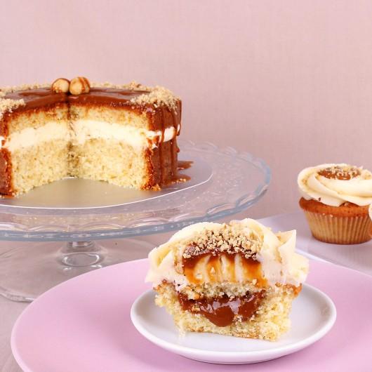 Сватбена капкейк торта Дулсе де Лече