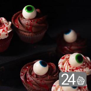 Чудовищен промо сет от 24 бр. кексчета за Хелоуин