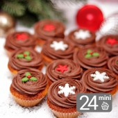 24 Mini Orange & Chocolate Cupcakes for Christmas