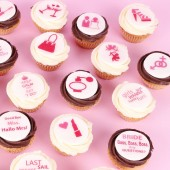 24 Mini Bachelorette Party Cupcakes