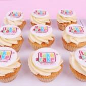 Branded mini cupcakes