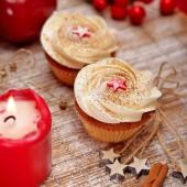 Apple and Cinnamon Christmas Cupcake