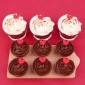 I Love You cupcake set