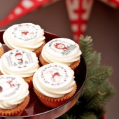 Christmas Mini Vanilla Cupcake Set
