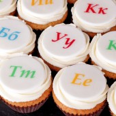 24 Holiday Letters Mini Cupcakes
