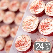 24 Mini Cupcakes Red Velvet