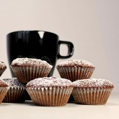 Mini Double Chocolate Cupcake