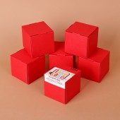 6 red single cupcake boxes
