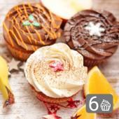 Six Christmas Cupcakes