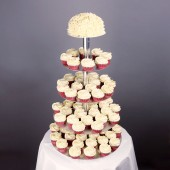 Red Velvet Wedding  Cupcake Set