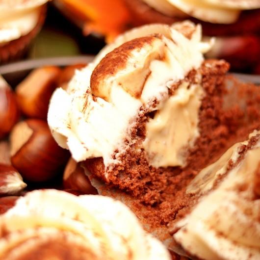 Chestnut in Rum and Сocoa Cupcake