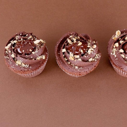 Chocolate and hazelnuts Cupcake