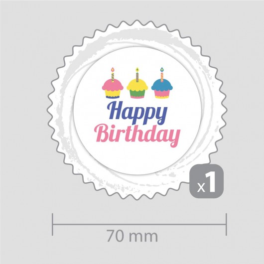 Happy Birthday Decoration – for one cupcake