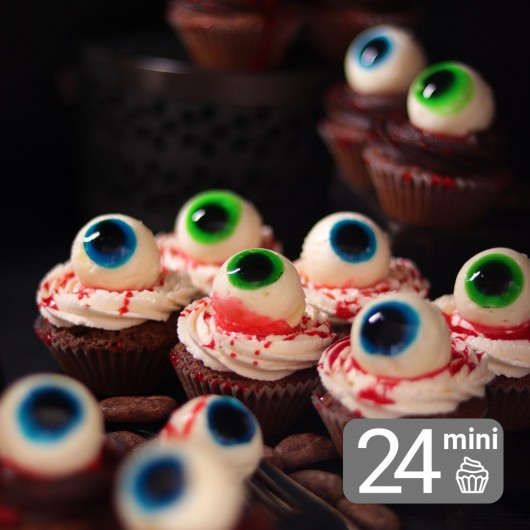 24 Monstrous Mini Cupcakes for Halloween