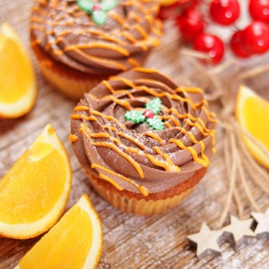 Orange and Chocolate Christmas Cupcake