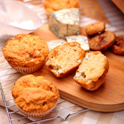 Muffin with Blue Cheese and Figs