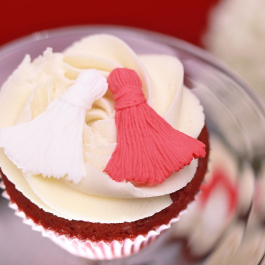24 Red Velvet Cupcake Martenitsi