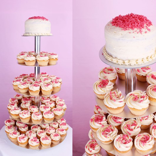 Vanilla Wedding Cupcake set