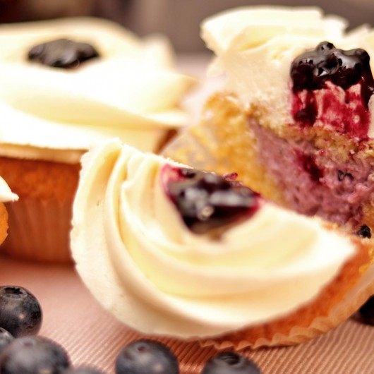White Blueberry Cupcake