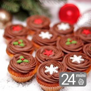 24 Mini Orange & Chocolate Cupcakes for Christmas