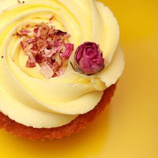 Rose Cupcake for Palm Sunday