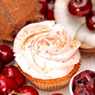 Cherry and Сoconut Cupcake