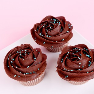 Cocoa Wedding Cupcake Set Sample