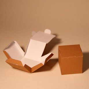 6 cardboard boxes for one cupcake or muffin