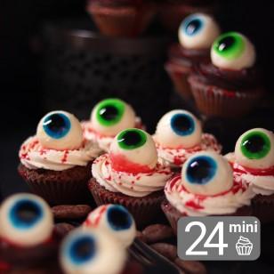 24 Monstrous Mini Cupcakes for Halloween