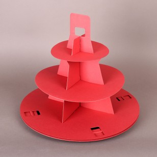 Two Red 3 Tier Disposable Cupcake Stands