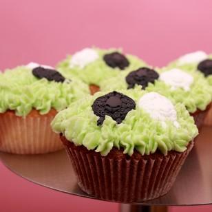 Six Saint George's Day Cupcakes