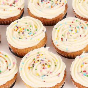 24 Mini Vanilla Cupcakes