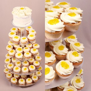 Lemon Cream Wedding Cupcake Set