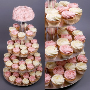 Strawberry Wedding Cupcake Set