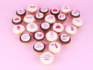 The Mini Bachelorette Party Cupcakes