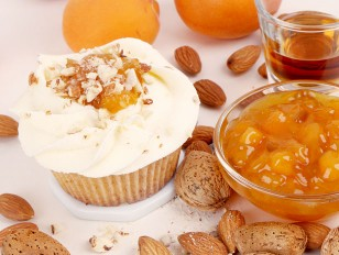 Amaretto and Apricot Cupcake