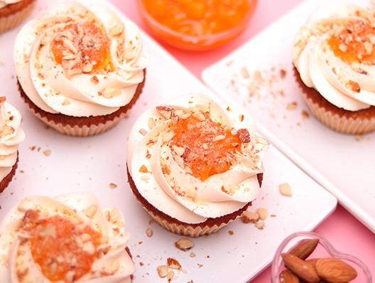 Amaretto and Apricot Cupcake